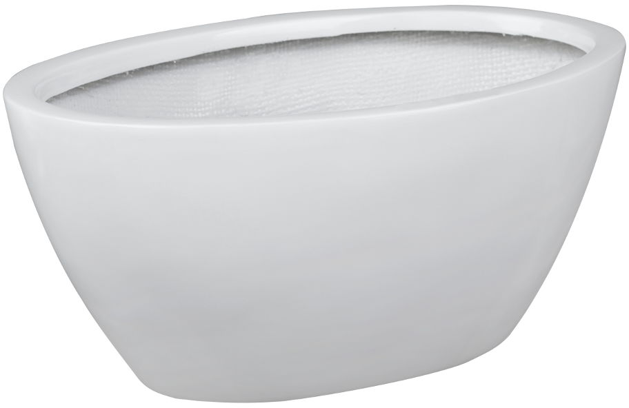 Donica z włókna szklanego D108A biały połysk