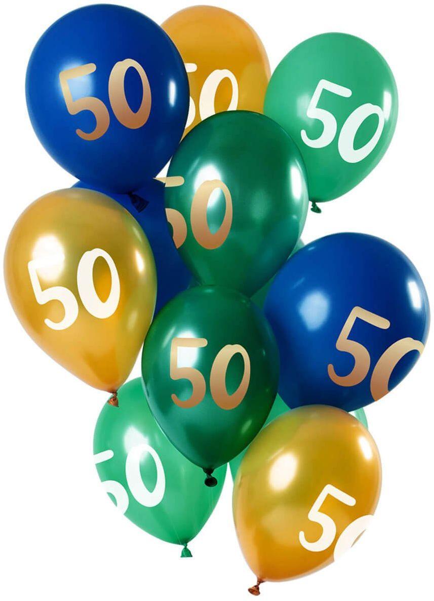 Zestaw balonów na pięćdziesiąte urodziny - 30 cm - 12 szt.