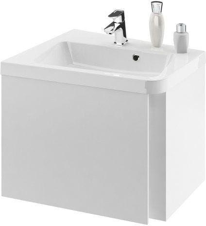 Ravak SD 10 (stopni) szafka narożna podumywalkowa, lewa 650 biała X000000745