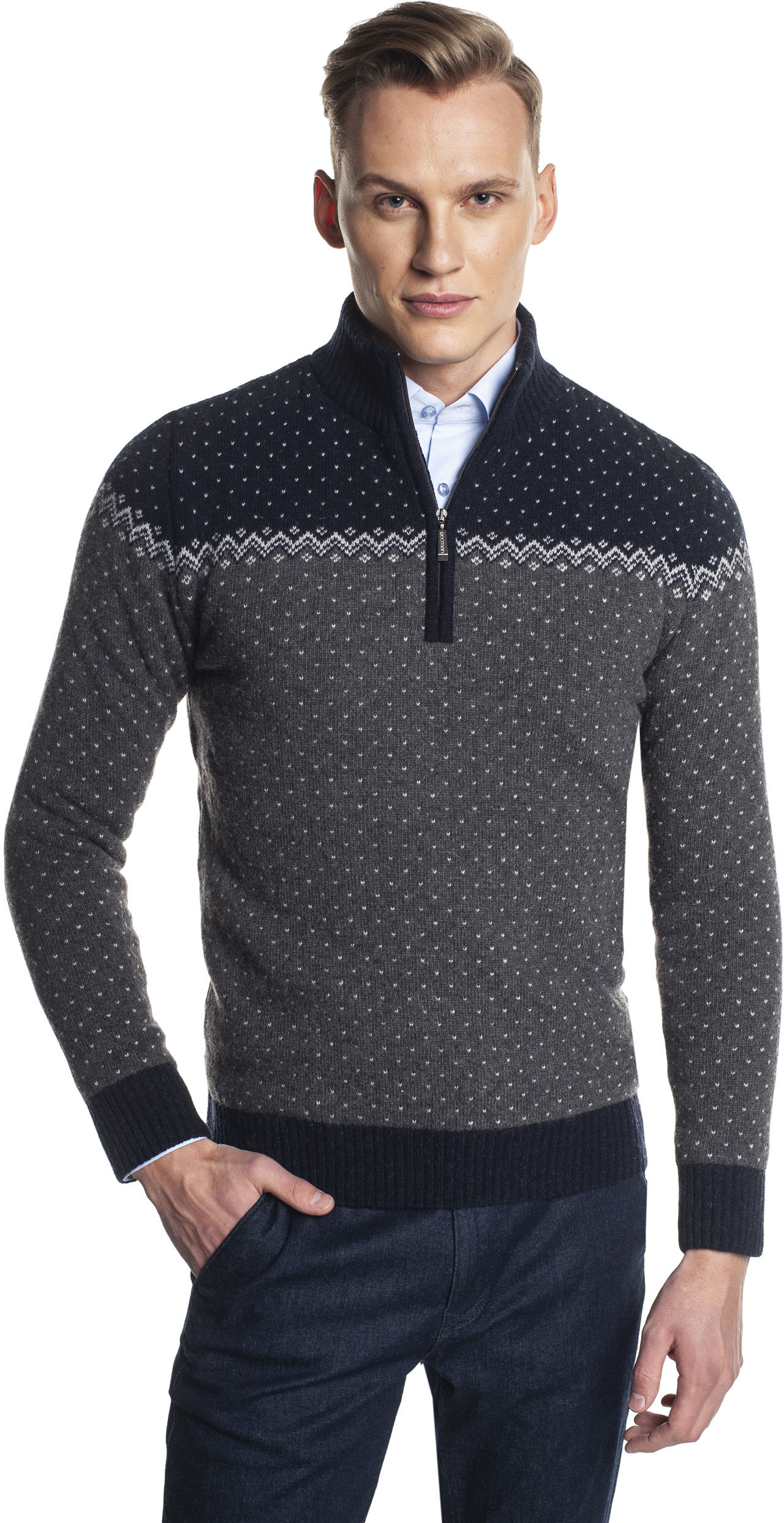 sweter norden troyer szary
