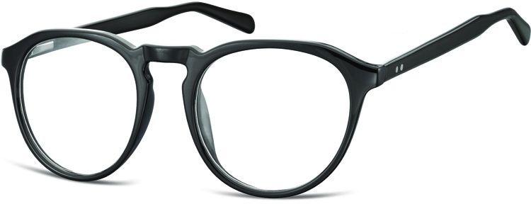 Okrągłe Okulary oprawki Lenonki zerówki korekcyjne Sunoptic AC21 czarne
