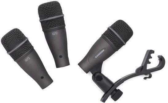Samson DK703 - Zestaw mikrofonów do perkusji 3xQ72 w walizce
