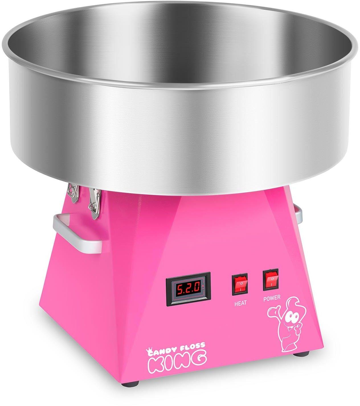Zestaw Maszyna do waty cukrowej - LED - 52 cm + Pokrywa - akryl + Świecące pałeczki - LED - 50 szt. - Royal Catering - RCZK-1030-W-R SET2 - 3 lata
