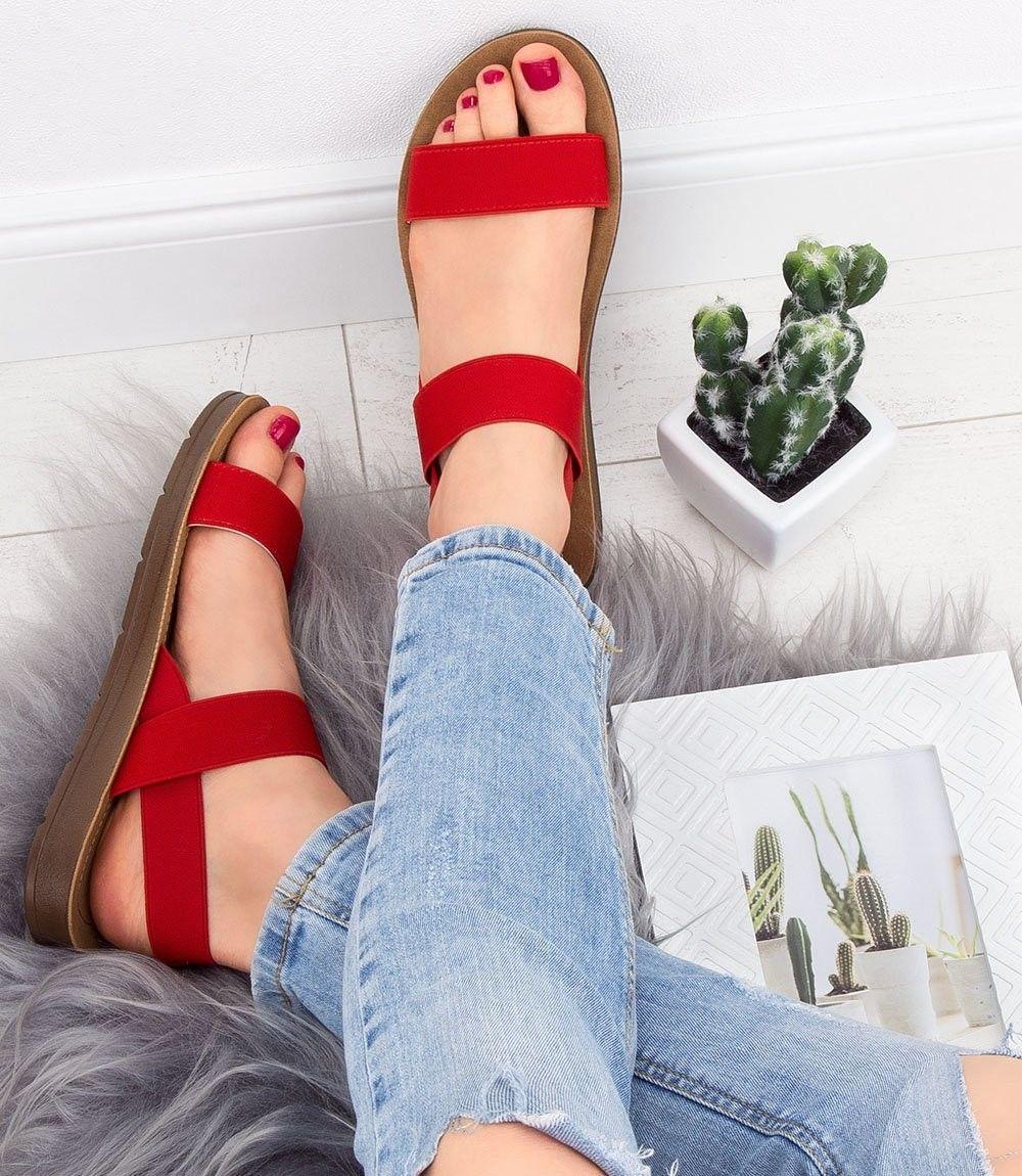 Sandałki damskie Super Mode 4609 Czerwone