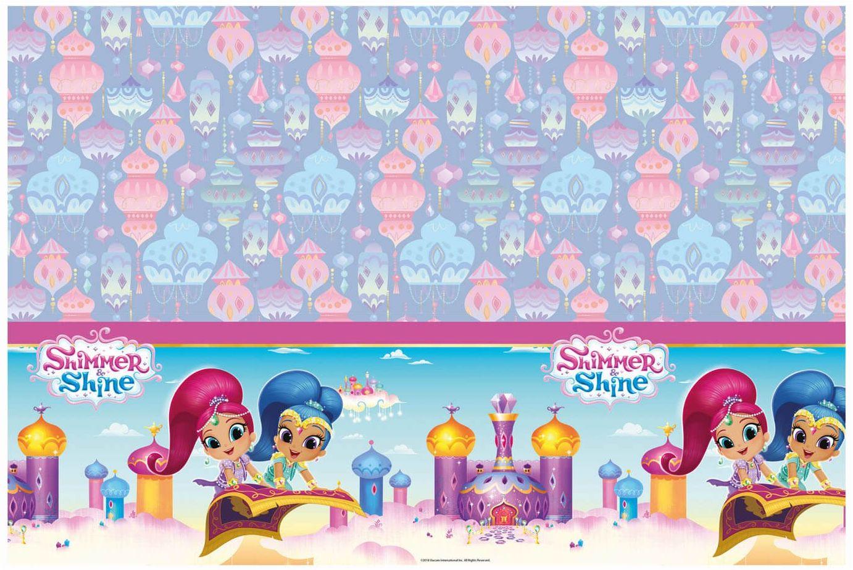 Obrus urodzinowy Shimmer & Shine - 120 x 180 cm - 1 szt.