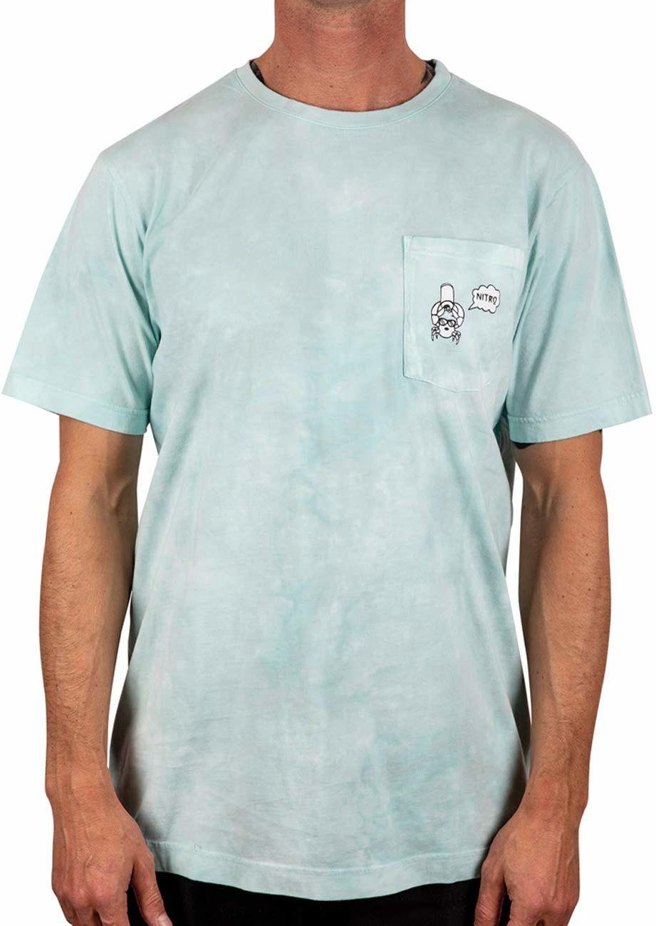 Nitro Zero Worries Tee''20 T-shirt, Egg Shell Blue, L