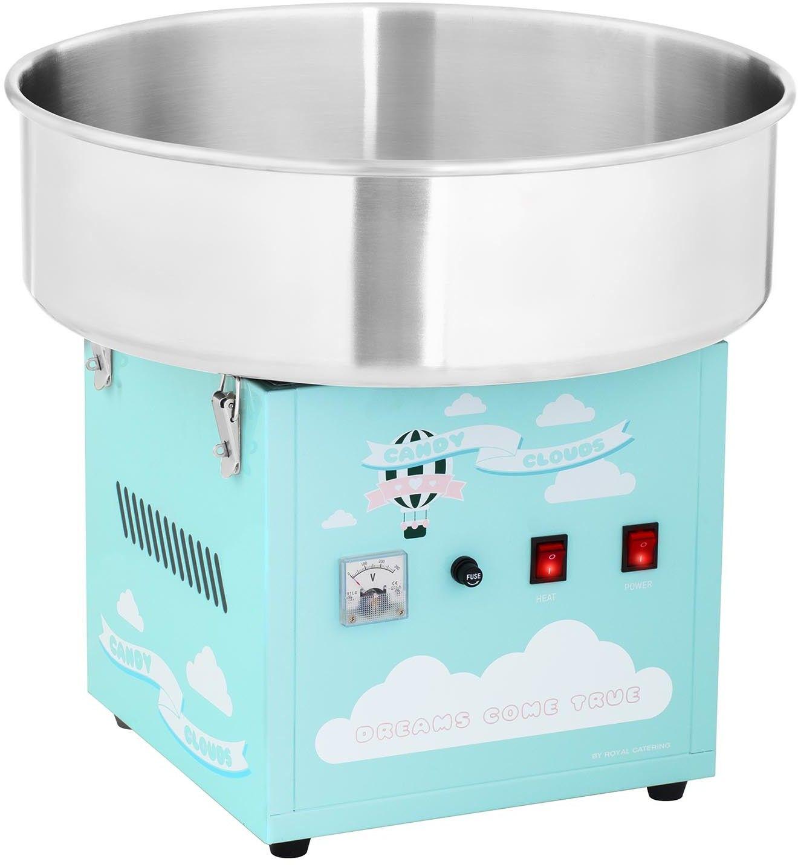 Zestaw Maszyna do waty cukrowej - 52 cm - Pokrywa + Świecące pałeczki - LED - 50 szt. - Royal Catering - RCZK-1200-BG SET3 - 3 lata gwarancji/wysyłka