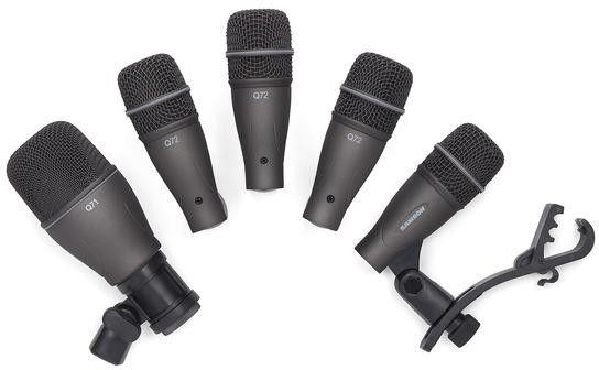 Samson DK705 - Zestaw mikrofonów do perkusji 4xQ72+1xQ71, waliza