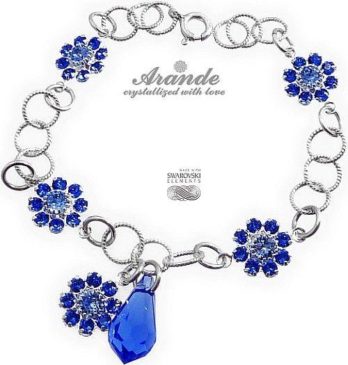 Kryształy Piękna Bransoletka Sapphire Feel Srebro