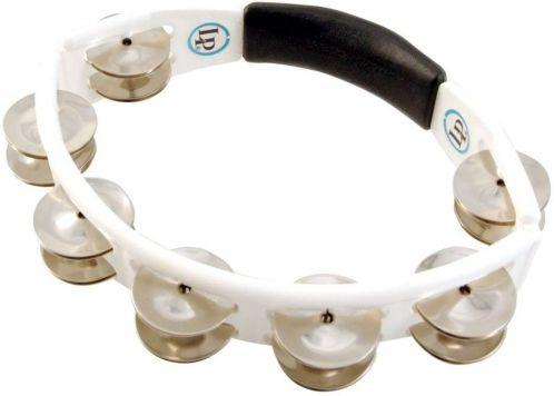 Latin Percussion Tamburyn Cyclop hand held Steel Jingles, biały