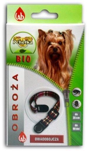 LAB PCHEŁKA - Obroża BIO przeciw ektopasożytom dla psów 35cm