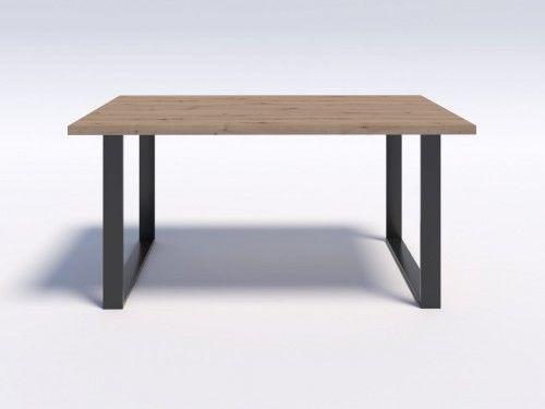 Stół w stylu modern loft NERO 160/90 - Dąb Artisan