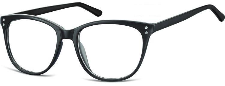 Okulary oprawki zerówki korekcyjne Unisex Sunoptic AC22 czarne