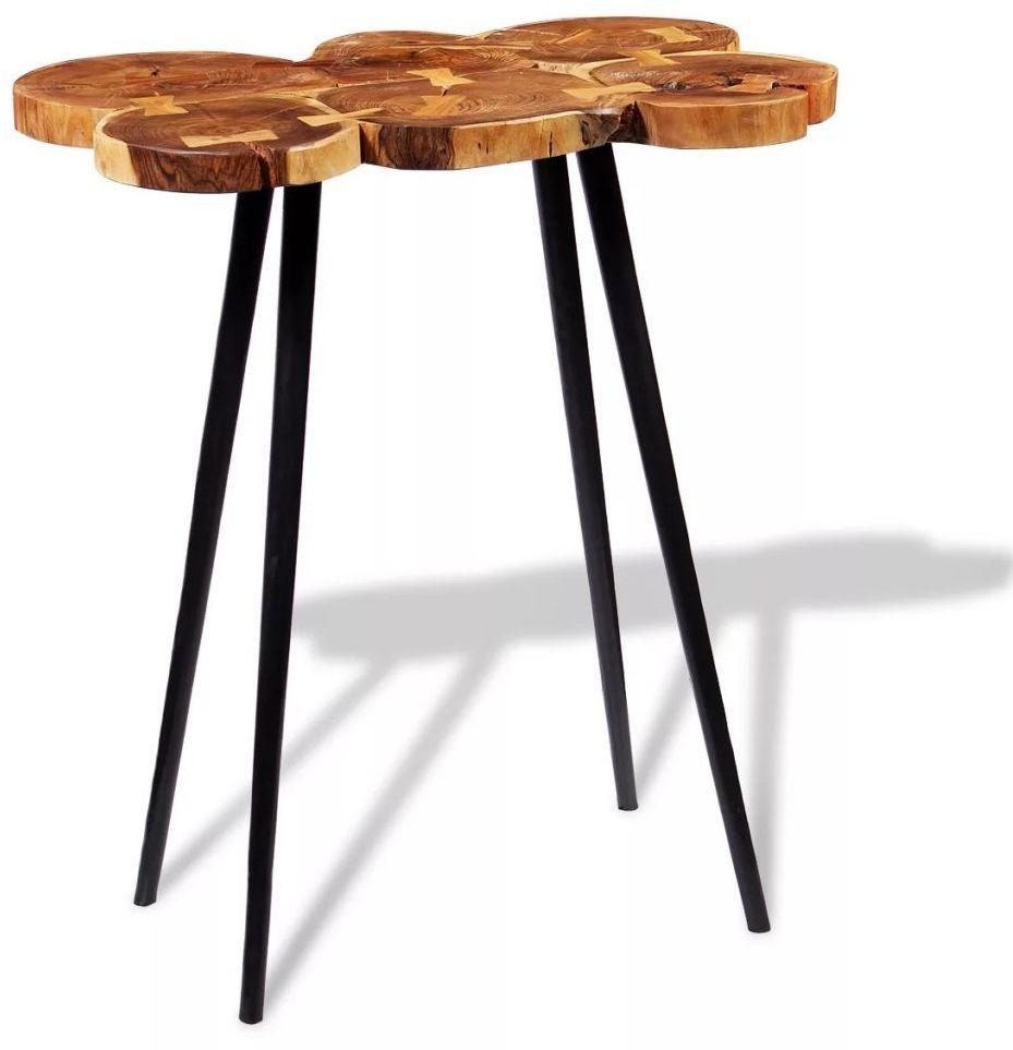 Okrągły stolik plastry drewna  Matel 3X