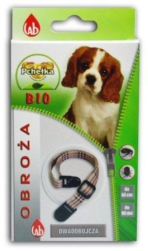 LAB PCHEŁKA - Obroża BIO przeciw ektopasożytom dla psów 45cm