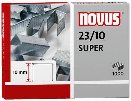 Zszywki Novus 23/10 SUPER x1000 do zszywaczy heavy-duty