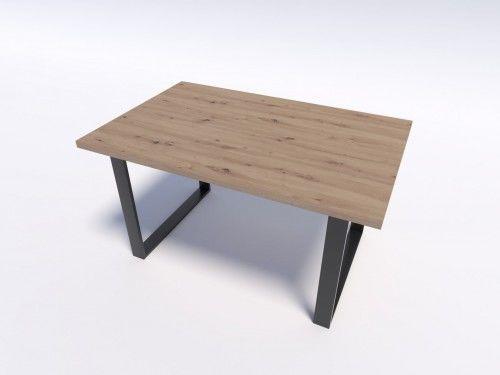 Stół w stylu modern loft NERO 140/90 - Dąb Artisan