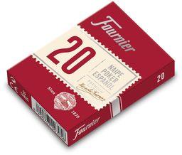 Fournier Hiszpański poker pokład, numer 20, 55 kart, różne kolory, niebieski lub czerwony (F21002)