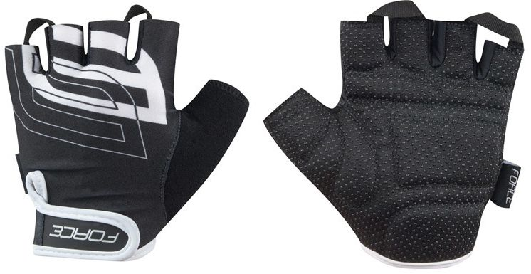 FORCE SPORT rękawiczki rowerowe czarno-białe 905573 Rozmiar: L,force-905573