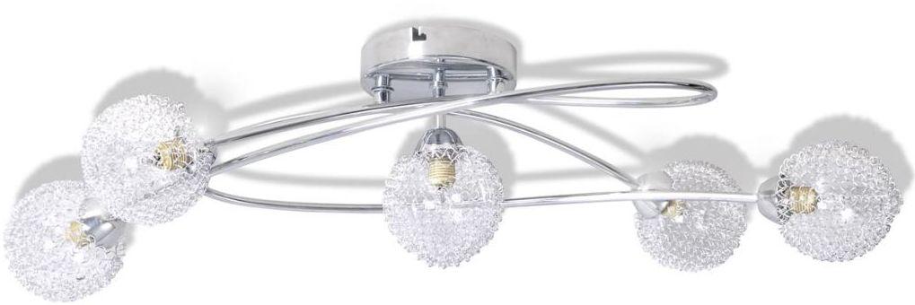 Nowoczesna lampa sufitowa z kloszami z siatki - E999-Messa