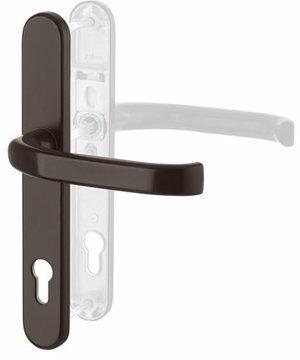 Klamka drzwiowa zewnętrzna DG58 na szyldzie 1/2 kpl - brąz 216