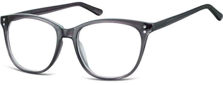 Okulary oprawki zerówki korekcyjne Unisex Sunoptic AC22B ciemny szary