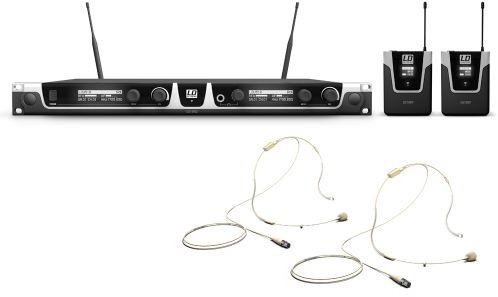 LD Systems U518 BPHH 2 mikrofon bezprzewodowy nagłowny, podwójny, kolor beżowy