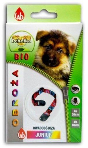 LAB PCHEŁKA - Obroża BIO junior owadobójcza dla psa 30cm