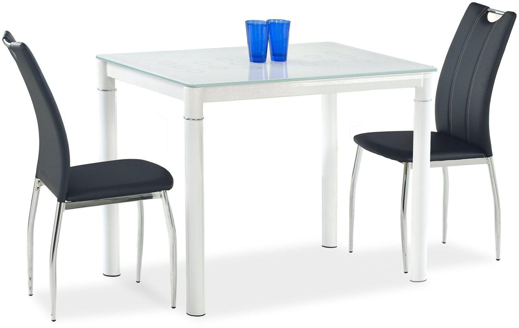 Zestaw: stół Argus (3 kolory) i 4 krzesła K187 Halmar (5 kolorów)