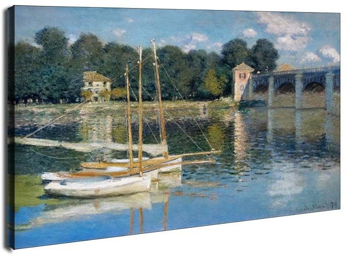 Le pont d argenteuil claude monet - obraz na płótnie, claude monet - obraz na płótnie wymiar do wyboru: 80x60 cm
