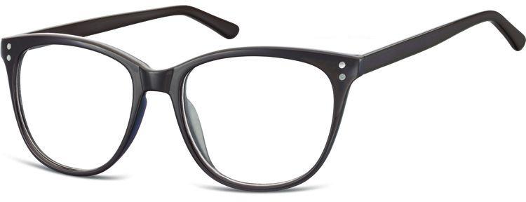 Okulary oprawki zerówki korekcyjne Unisex Sunoptic AC22C ciemny brązowy