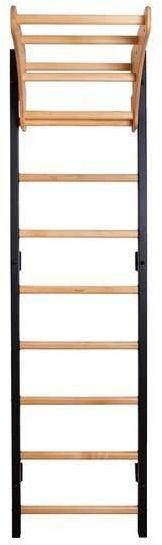 Drabinka gimnastyczna z drewnianymi szczebelkami i drewnianym drążkiem PB210B BenchK 240 x 67 cm - 310B+PB210B