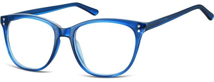 Okulary oprawki zerówki korekcyjne Unisex Sunoptic AC22D ciemny niebieski