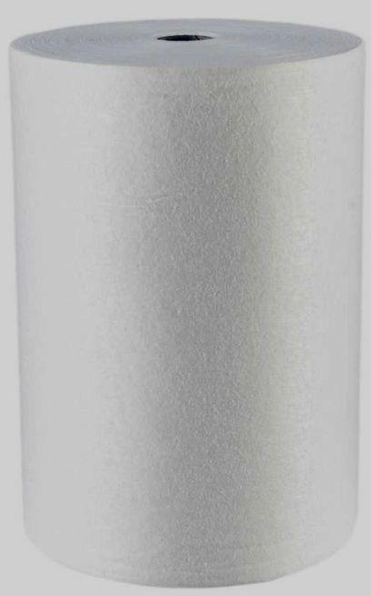 Czyściwo włókninowe drukarskie, niepylące, 1-warstwowe,średnica 26 cm, długość 110 m, białe, opakowanie 1 sztuka