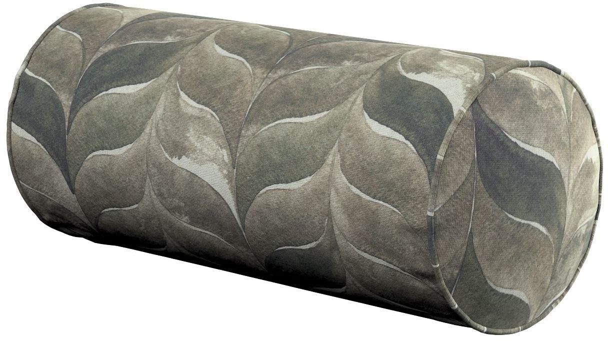 Poduszka wałek prosty, odcienie brązu, beżu i zieleni, Ø16  40 cm, Abigail
