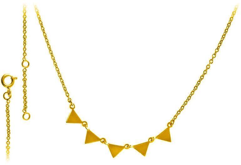 Pozłacany srebrny naszyjnik gwiazd celebrytka choker trójkąt triangle srebro 925 FN306