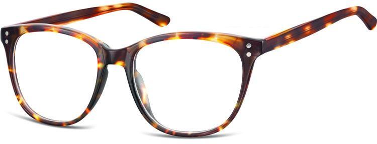 Okulary oprawki zerówki korekcyjne Unisex Sunoptic AC22E jasna panterka