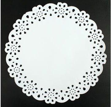 Papierowe Serwetki dekoracyjne z ażurem, okrągłe 12 szt.