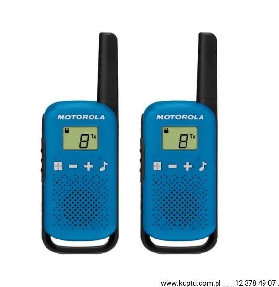 Motorola TLKR T42 radiotelefon niebieski