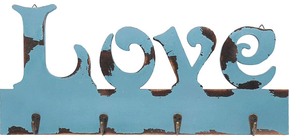 Wieszak ścienny Bella 4X - Niebieski