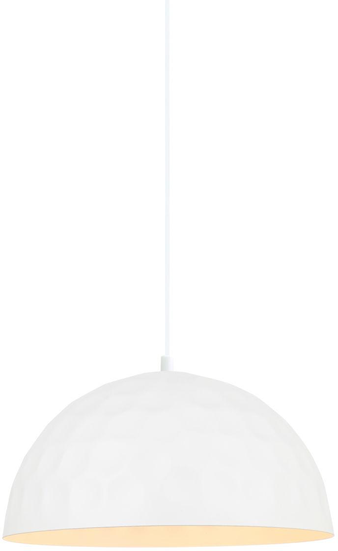 Italux lampa wisząca Rasto MDM-2957/1M W biała metalowa z wgnieceniami 30cm