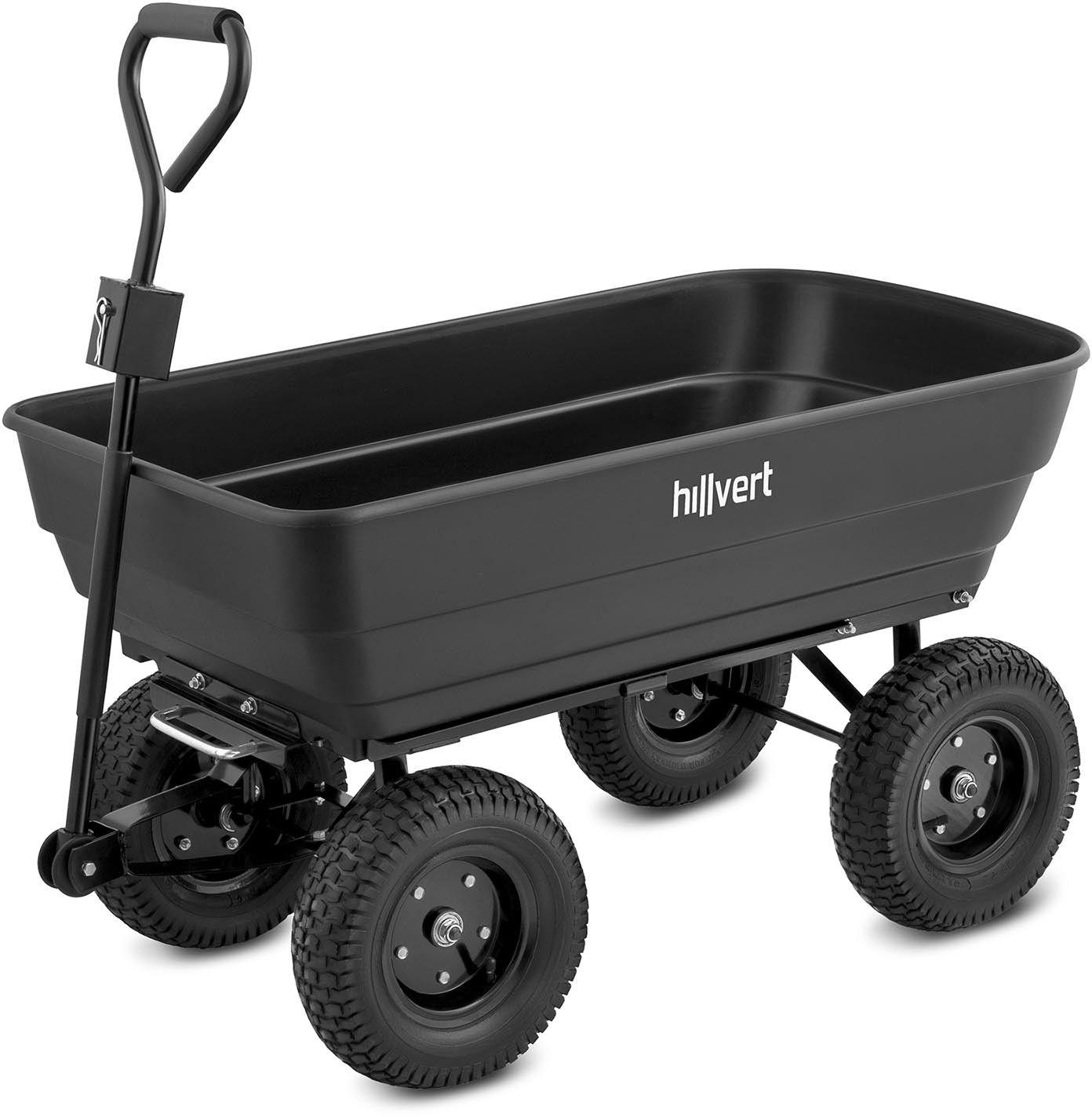 Wózek ogrodowy - 350 kg - 125 l - Hillvert - HT-Q.BASS-125G - 3 lata gwarancji/wysyłka w 24h