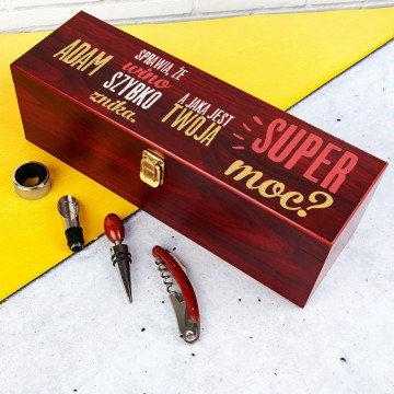 Super moc - Skrzynka na wino z akcesoriami