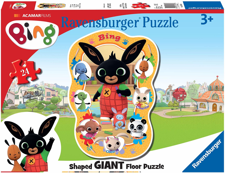 Ravensburger Bing Bunny - 24-częściowa układanka na podłogę gigantyczna puzzle - dla dzieci w wieku od 3 lat