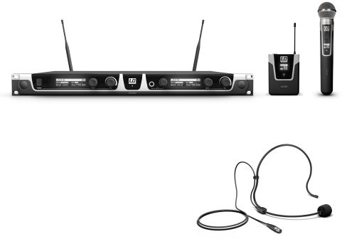 LD Systems U518 HBH 2 mikrofon bezprzewodowy nagłowny i doręczny