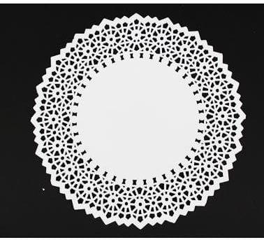 Papierowe Serwetki dekoracyjne z szerokim ażurem, okrągłe 12 szt.