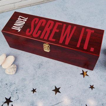 Screw it - Skrzynka na wino z akcesoriami
