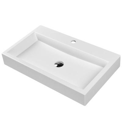 Omnires umywalka nablatowa 70x42cm biała Thasos700