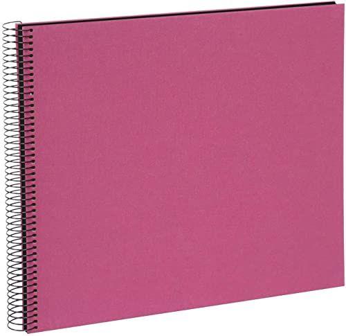goldbuch 25508 album spiralny, album fotograficzny z 40 czarnymi stronami, album pamiątkowy 35 x 30 cm, album na zdjęcia spiralne bez wycięcia na zdjęcie, fotoksiążka