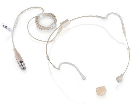 LD Systems WS 100 MH 3 mikrofon nagłowny pojemnościowy w kolorze beżowym, 3-pin XLR